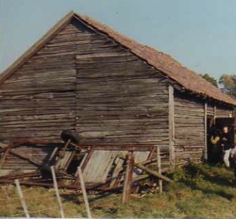 Barn where Magda Brown hid