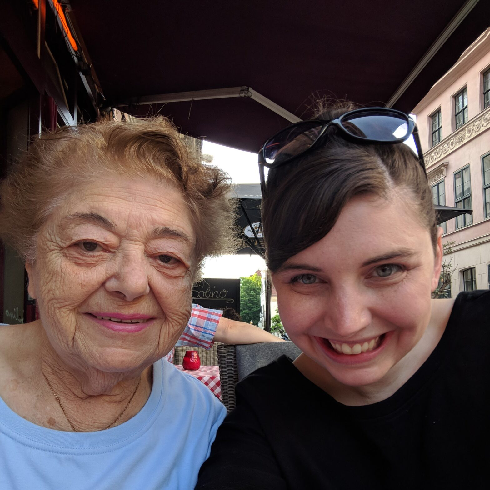 Magda Brown and her granddaughter Amy Rainey